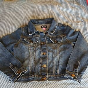 Original condition denim jacket with heart buttons